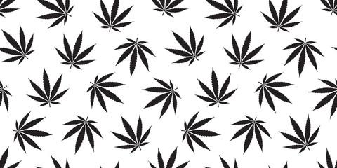 Weed seamless pattern Marijuana isolated cannabis leaf background wallpaper