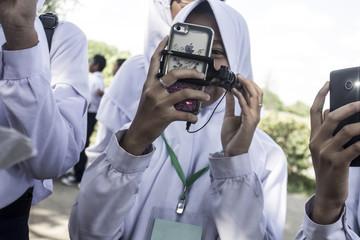 Fototapeta robi mi zdjęcie obraz