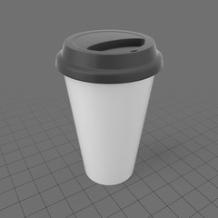 Disposable travel cup