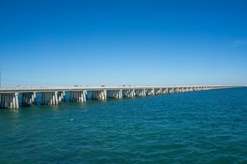 USA, Florida, Overseas highway through the ocean of florida keys