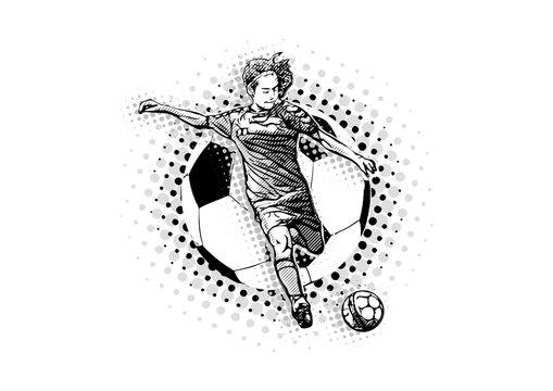 women soccer vector illustration