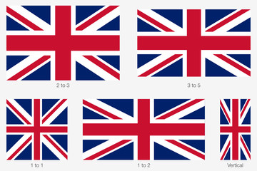 Union Jack. Flag of United Kingdom of Great Britain