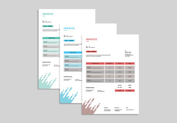 Business Invoice Layout with Abstract Design 1