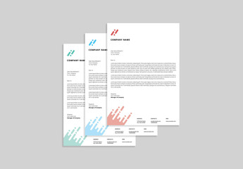 Letterhead Set with Abstract Design 1
