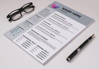 Resume Set with Gray Header and Sidebar  1
