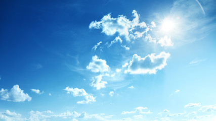 Wall Mural - Perfect blue, sunny sky