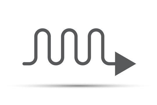 Grey wavy arrow icon