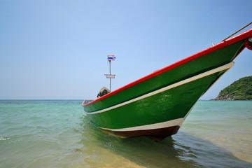 Long tail boat at Phangan island, Thailand