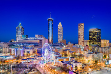 Atlanta, Georgia, USA downtown city skyline.