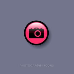 Photography icon.  Camera, photo, photography button