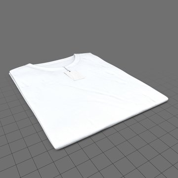 Folded crew neck shirt with tag (mens)