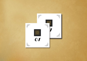 Filigree and Embellished Corners Place Card Layout 1