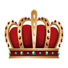 King crown symbol icon vector illustration graphic design