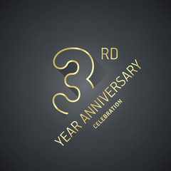 Anniversary 9th year celebration logo gold black greeting card