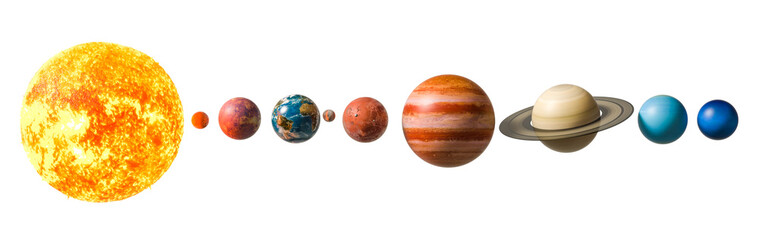 Planets of the solar system, 3D rendering Fototapete