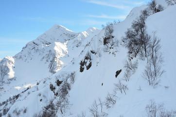 Пик горы Аибга с теневой стороны, Красная поляна, город Сочи