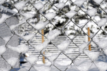 Background of Snow on Wire