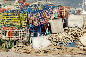 Tools for fishing in Estepona in Andalucia Spain