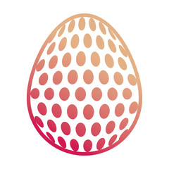 easter egg with dots  vector illustration