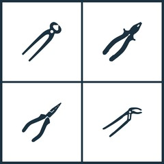 Vector Illustration Set Cinema Icons. Elements of Pile icon