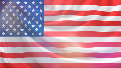 flag of the united states of america 3d rendering background