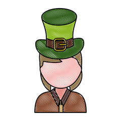 woman wearing leprechaun hat