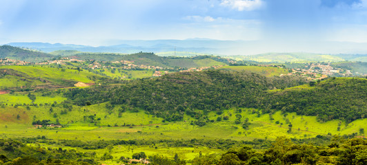 Panoramic view of country side the state of  Minas Gerais , Brazil.