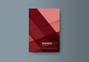 Abstract Book/Report Cover Layout 20