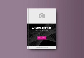 Abstract Book/Report Cover Layout 23