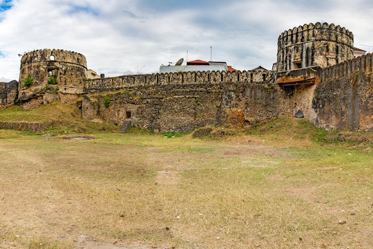 Old Fort of Zanzibar in Stone Town, Zanzibar, Tanzania. It was built in late 17th century.