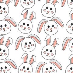 rabbit or bunny pattern image vector illustration design