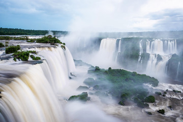Iguazu Falls (Iguacu Falls) on the border of Argentina and Brazil.