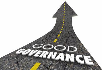 Good Governance Oversight Management Road Words 3d Illustration