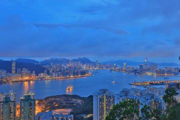 View of Hong Kong at night