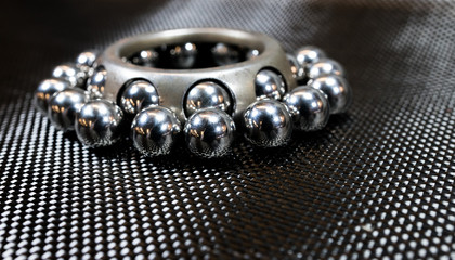 Ball bearings and wheel bearing on carbon fiber cloth