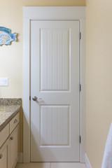White bathroom door