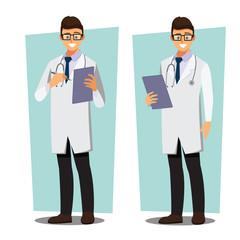Medical doctors character professors presents, illustration