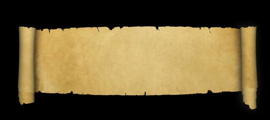 Ancient scroll of parchment.