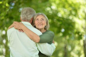 beautiful caucasian senior couple