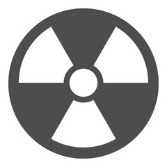 IONIZING RADIATION sign. Nuclear pollution symbol. Vector icon.