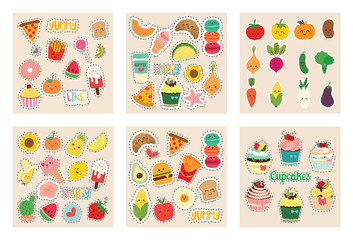 set of cute sticker