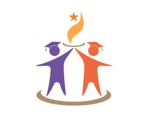 education academic figure image vector icon logo symbol