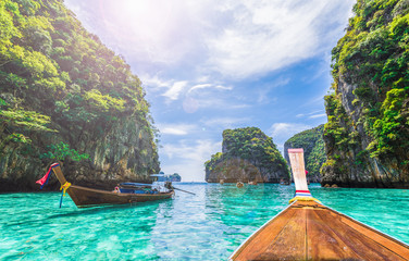 Photo sur Aluminium Ile View of Loh Samah Bay, Phi Phi island, Thailand