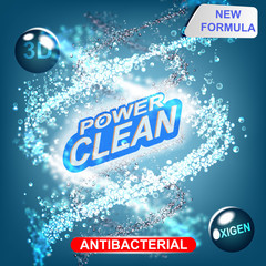Laundry Detergent packaging vector template design.