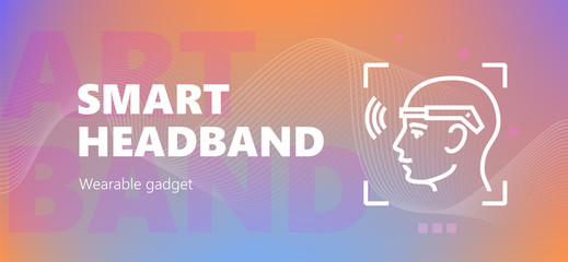 Smart headband wearable emblem