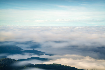 cloudscape at doi inthanon chiang mai thailand