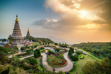 View point of Doi Inthanon National park, at Chiang Mai Thailand.