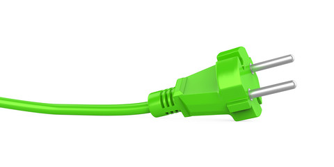 Green Power Plug Isolated