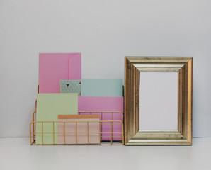 Mock up frame, hipster concept interior