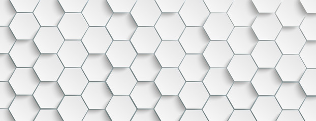 White Hexagon Structure Background Header